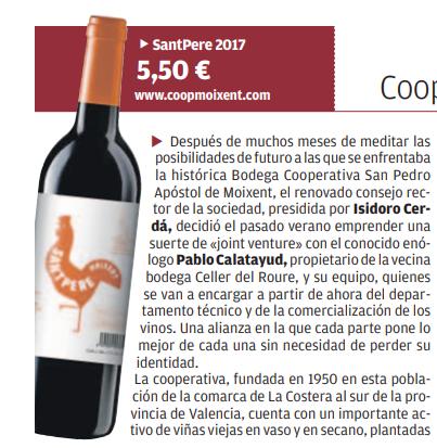 Reseña de Sant Pere en Diario Levante